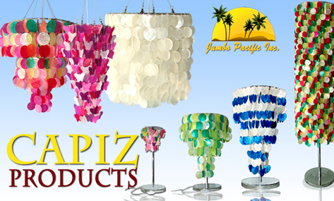 Raw shell of capiz lightings that suits your room as decrations in night.