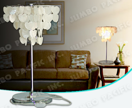 Heart Natural Capiz design for table lamp shade