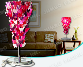 Colored Butterfly design capiz chips for table capiz lampshade